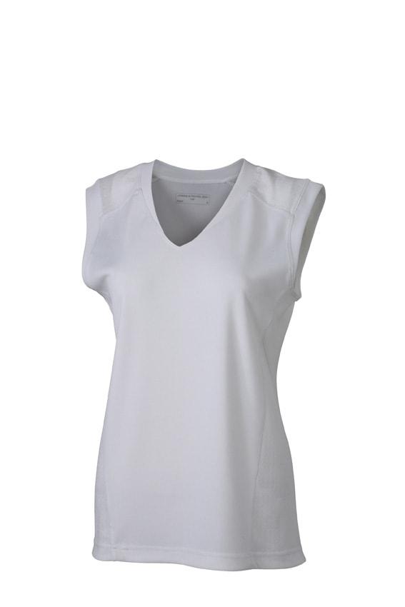 Dámské běžecké tílko JN469 - Bílá / bílá   L
