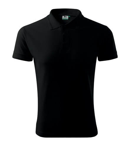Pánská polokošile Pique Polo - Černá | L