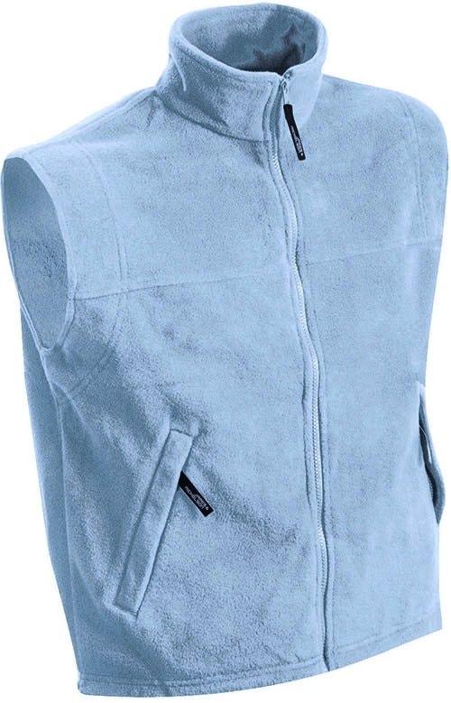 Pánská fleecová vesta JN045 - Světle modrá | XXXL