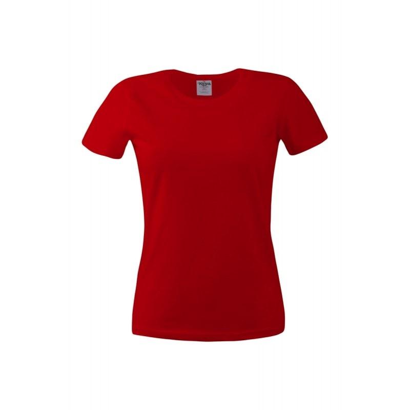 Dámské tričko ECONOMY - Červená | XXL