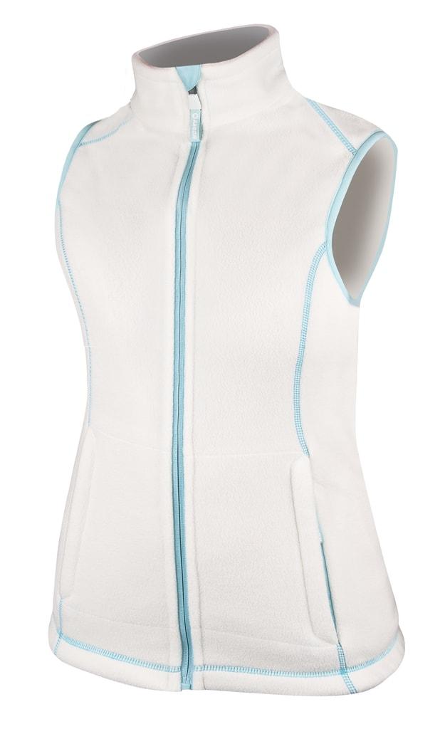 Dámská fleecová vesta Janette - Bílá | S