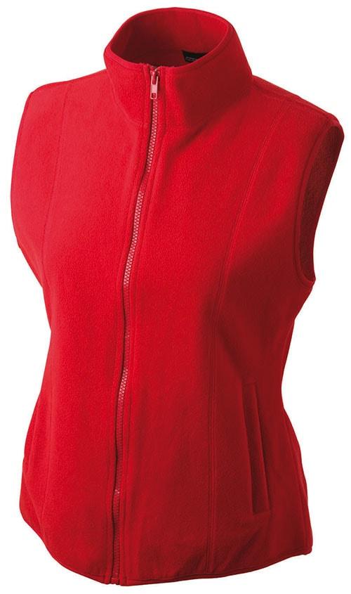 Dámská fleecová vesta JN048 - Červená | XXL
