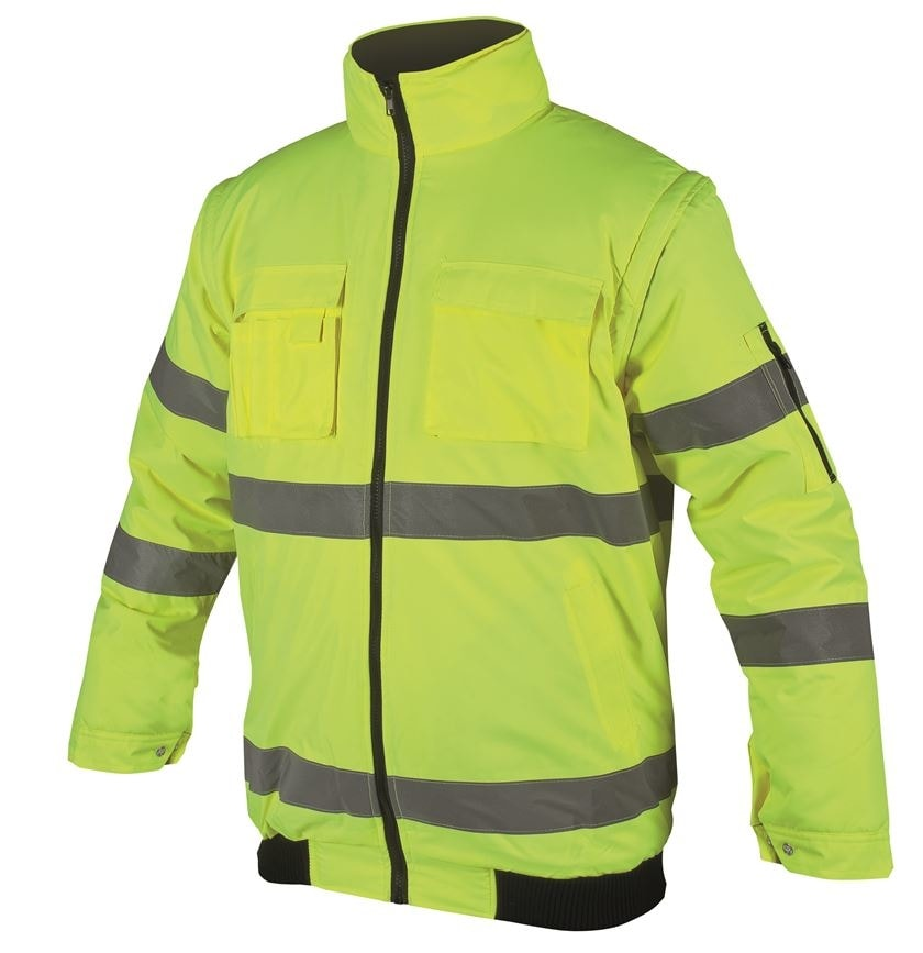 Nepromokavá reflexní bunda Howard reflex - Žlutá | L