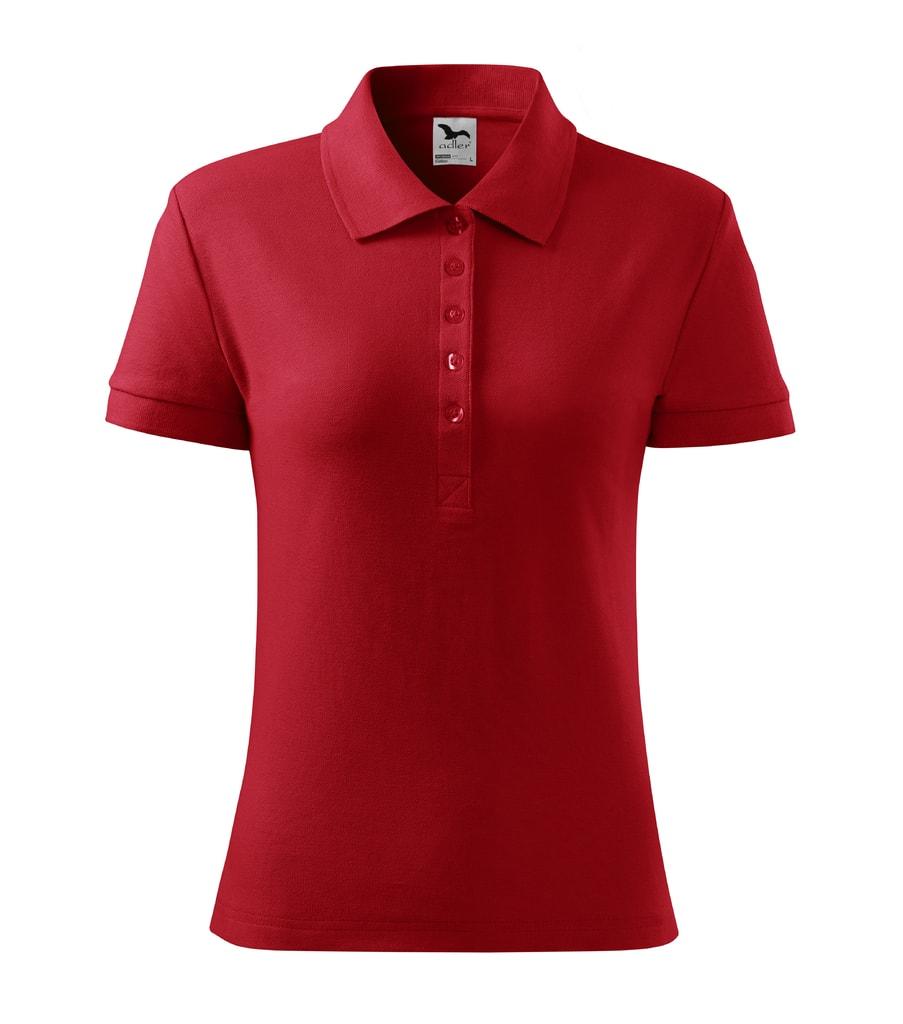 Dámská polokošile Cotton - Červená   XXL