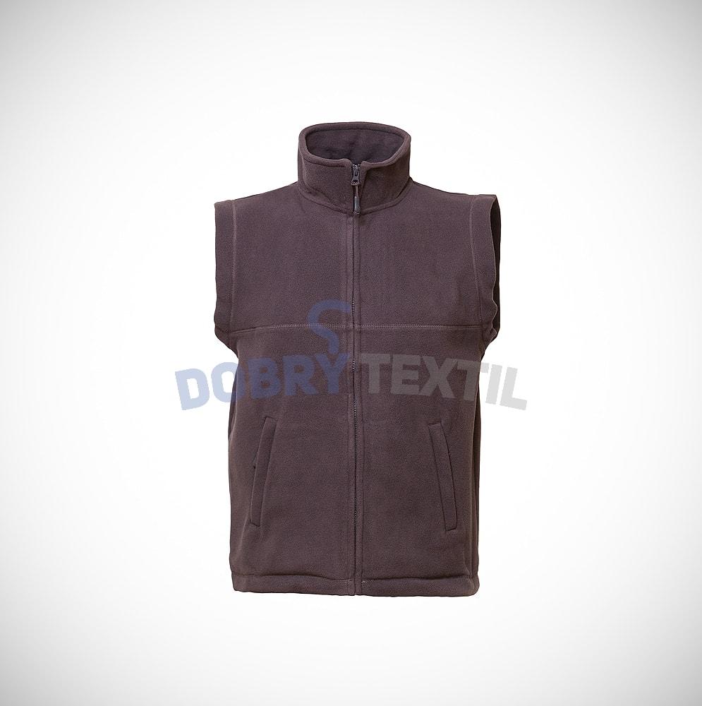 Fleecová vesta - Tmavě šedá | XXXL