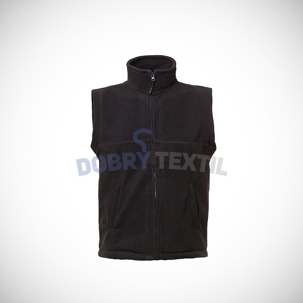 Fleecová vesta - Černá | XXXL