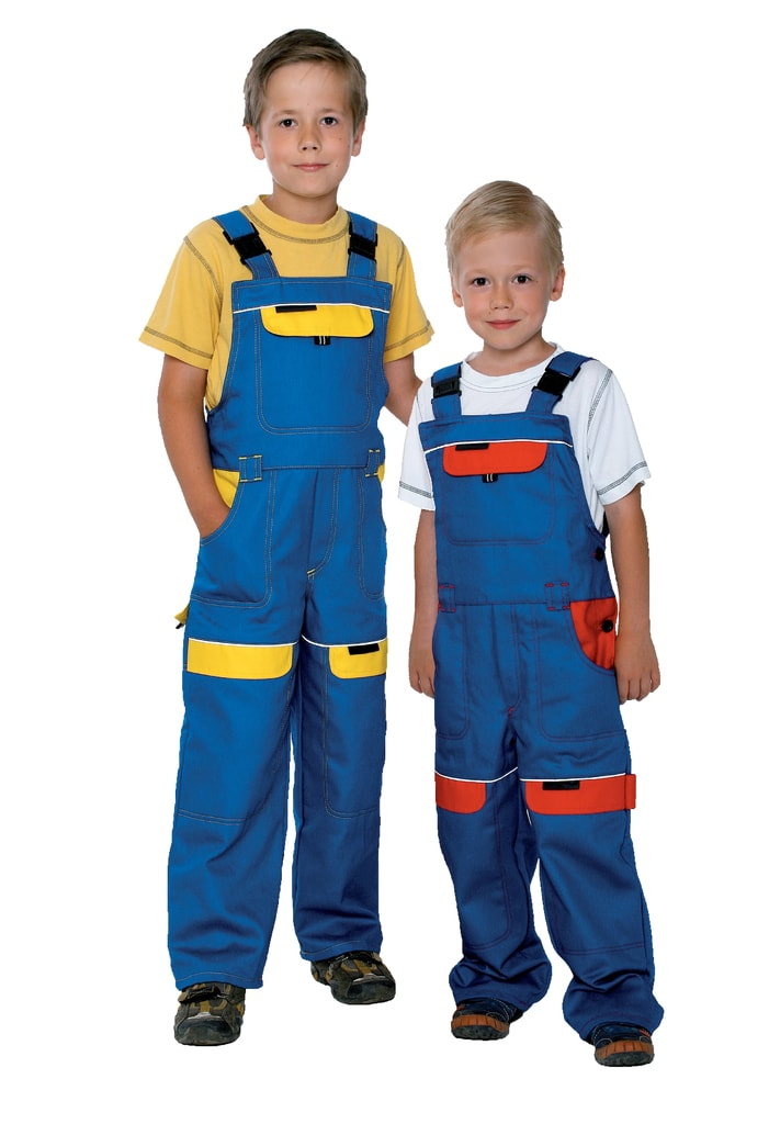 Dětské montérky COOL TREND - Modrá / červená   116