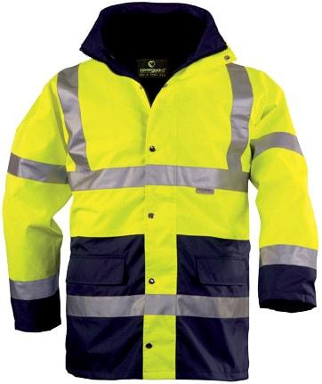 Zimní pracovní reflexní bunda HI-WAY - XL