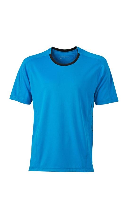 Pánské běžecké tričko JN472 - Atlantik / černá | XL