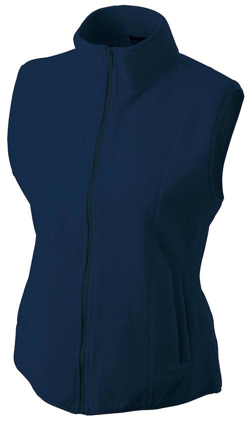 Dámská fleecová vesta JN048 - Tmavě modrá | S