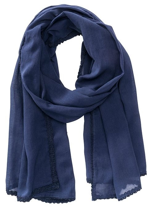 Bavlněná šála MB6404 - Tmavě modrá