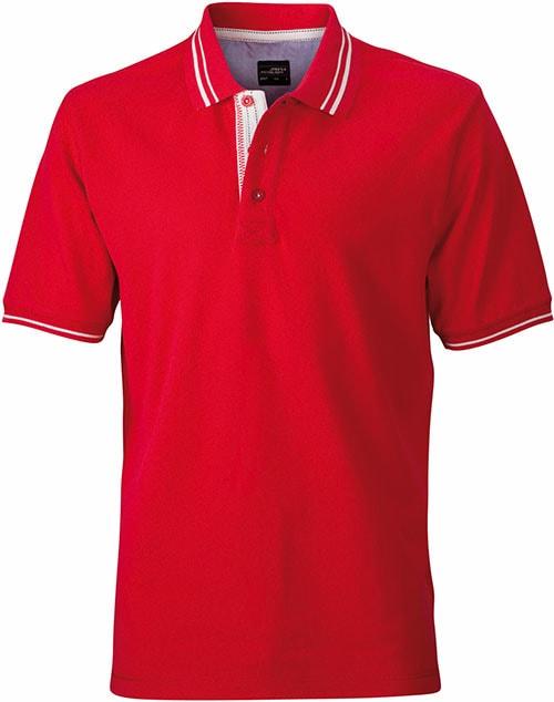 b0c753fa1b3 Pánská polokošile JN947 Pánská polokošile JN947 Červená   šedo-bílá
