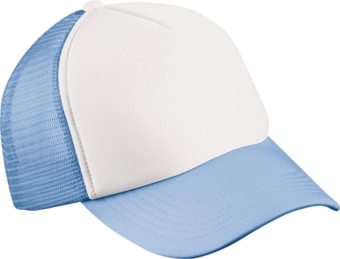 5 panelová kšiltovka MB070 - Bílá / světle modrá | uni