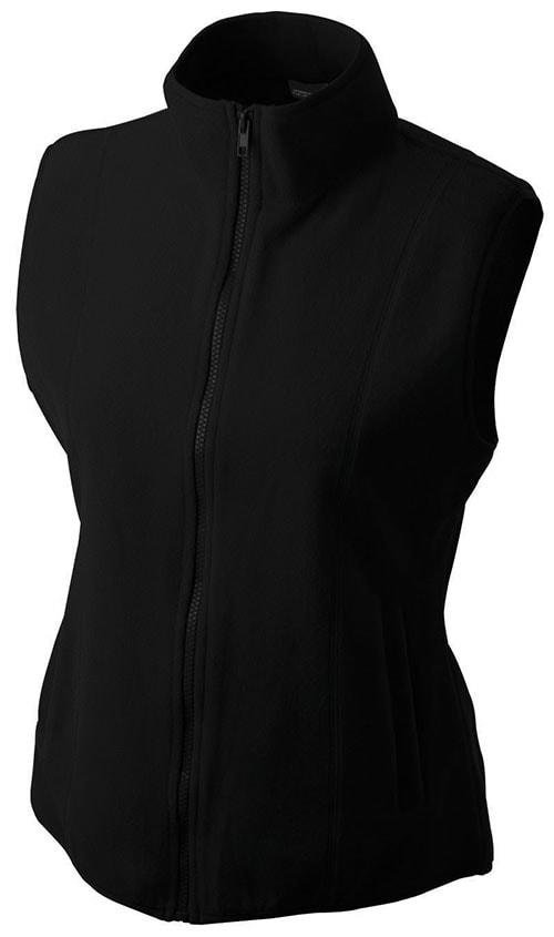 Dámská fleecová vesta JN048 - Černá | XXL