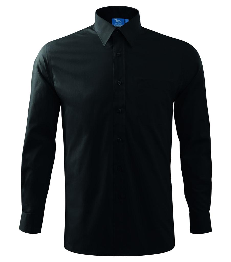 Pánská košile s dlouhým rukávem Adler - Černá   XXXL