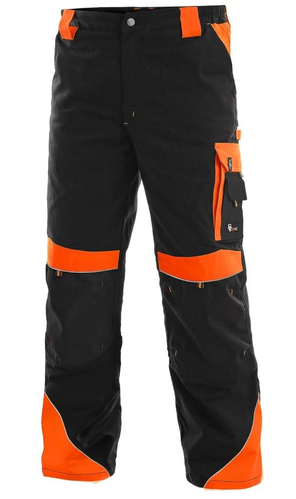 Pracovní kalhoty SIRIUS BRIGHTON - Černá / oranžová | 64
