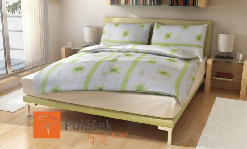 Polášek Bavlnené obliečky Lena - Zelená | 140 x 200 cm / 70 x 90 cm