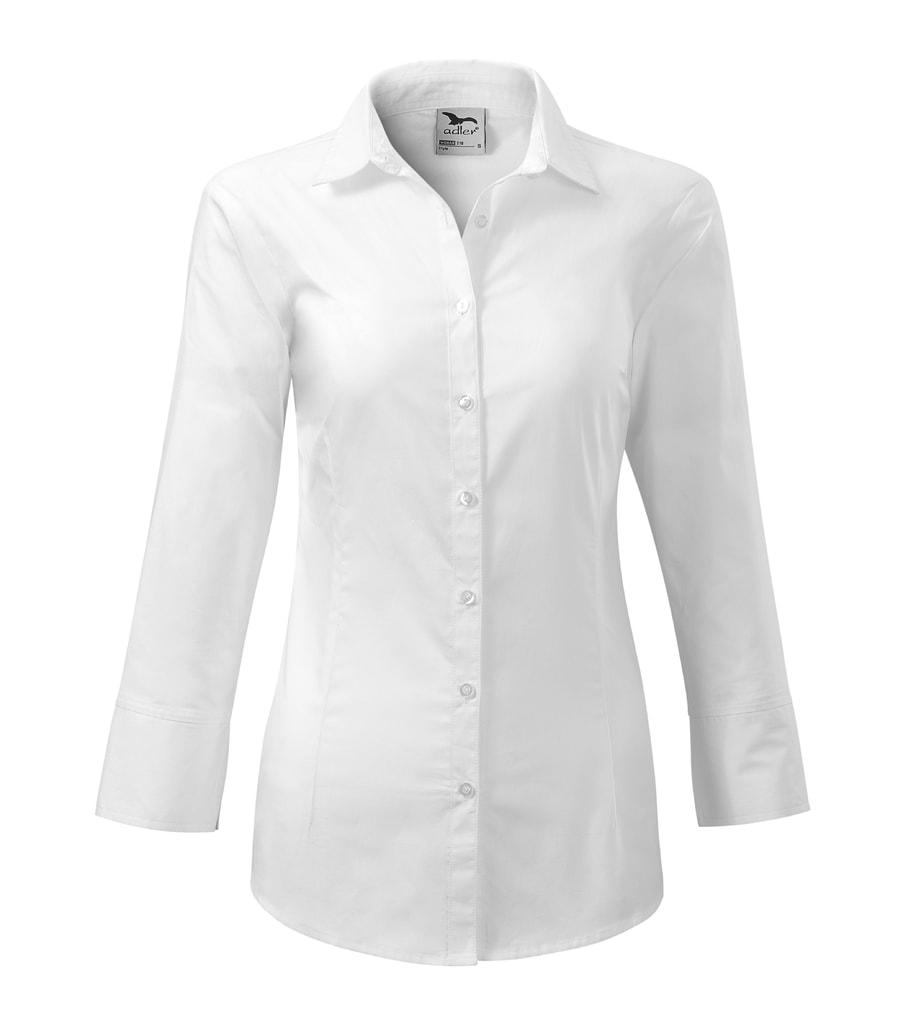 Dámská košile s dlouhým rukávem Adler - Bílá | XXL