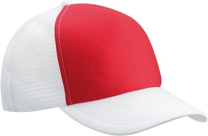 5 panelová kšiltovka MB070 - Červená / bílá | uni