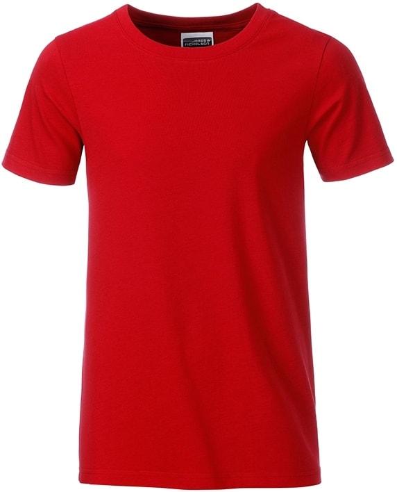 Klasické chlapecké tričko z biobavlny 8008B - Červená | M