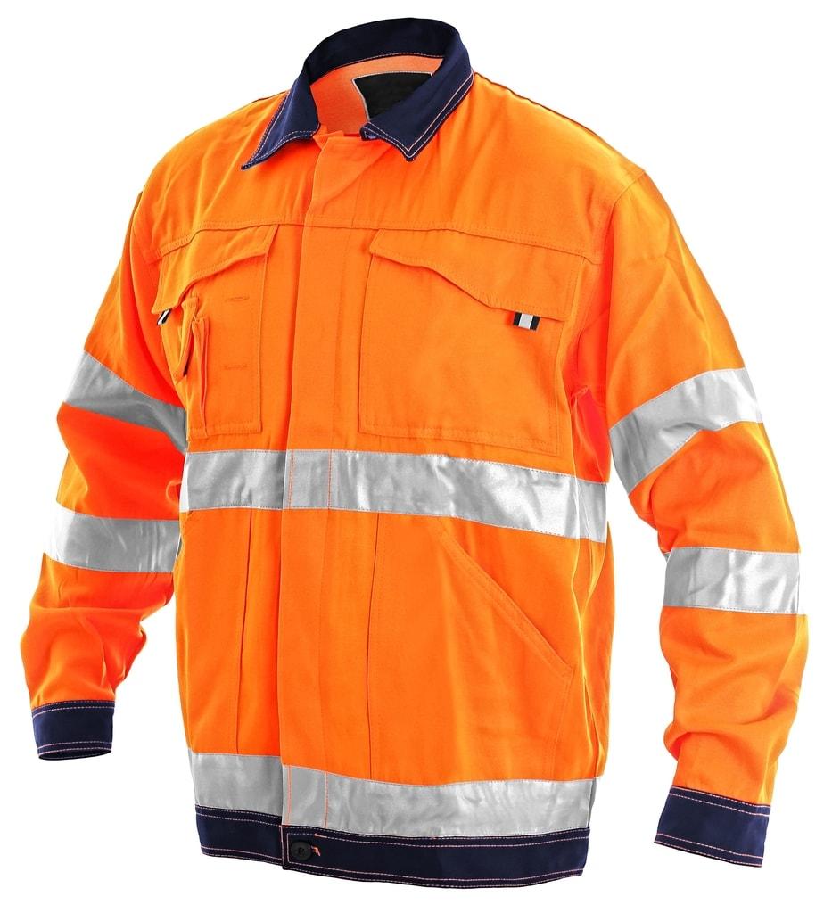 Pracovní reflexní bunda NORWICH - Oranžová | 48