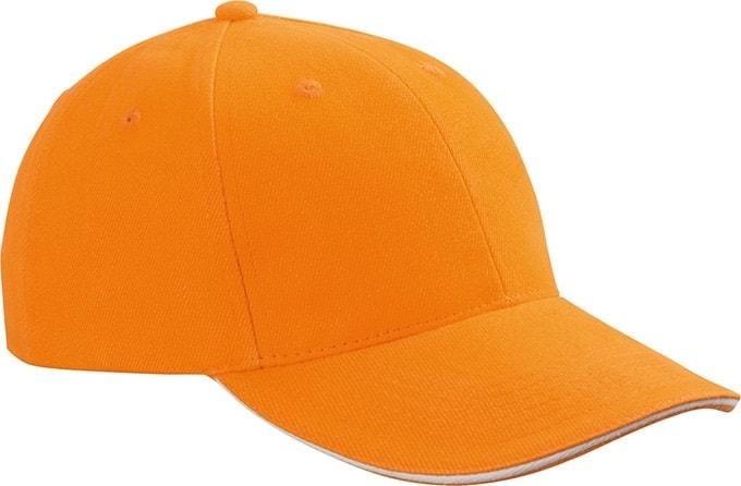 Reklamní kšiltovka 6 panelová sandwich MB024 - Oranžová/ bílá   uni