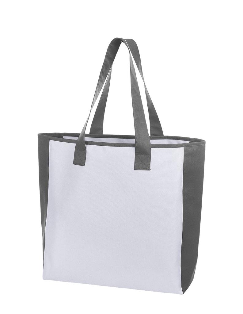 Nákupní taška OPTION - Bílo-šedá
