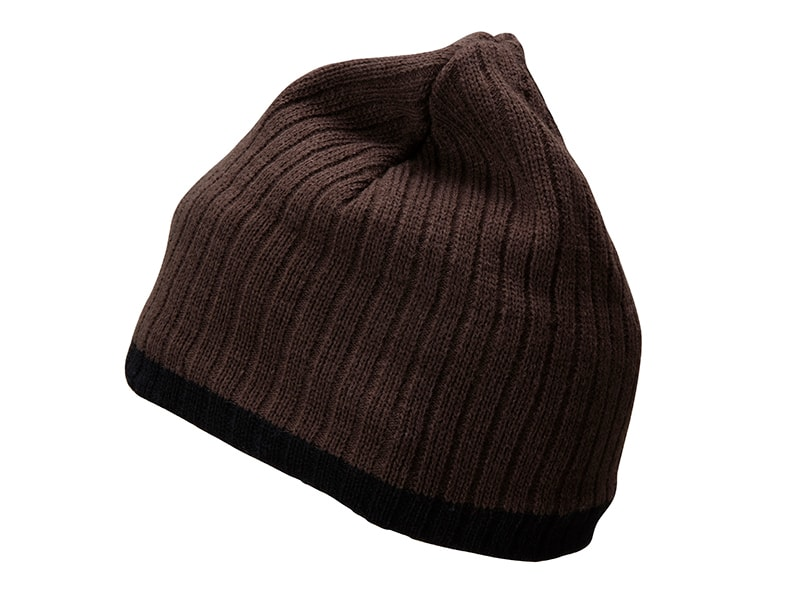 Zimní čepice MB7102 - Kávová / černá