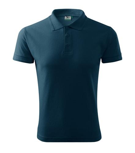 Pánská polokošile Pique Polo - Námořní modrá   L