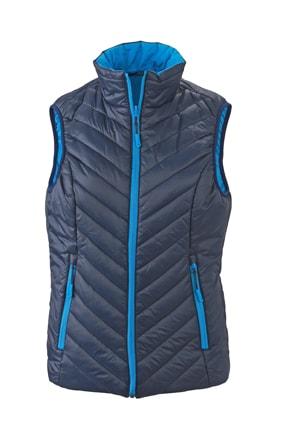 Lehká dámská oboustranná vesta JN1089 - Tmavě modrá / aqua | M