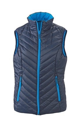 Lehká dámská oboustranná vesta JN1089 - Tmavě modrá / aqua | XL