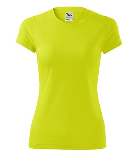 Dámské sportovní tričko Adler Fantasy - Neonově žlutá | S