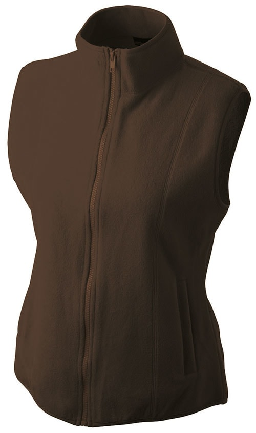 Dámská fleecová vesta JN048 - Hnědá | M