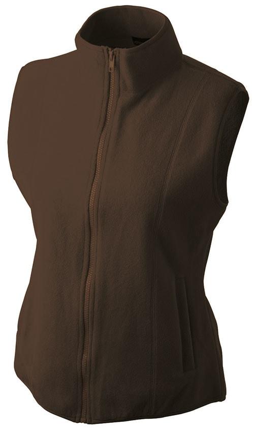 Dámská fleecová vesta JN048 - Hnědá | XL