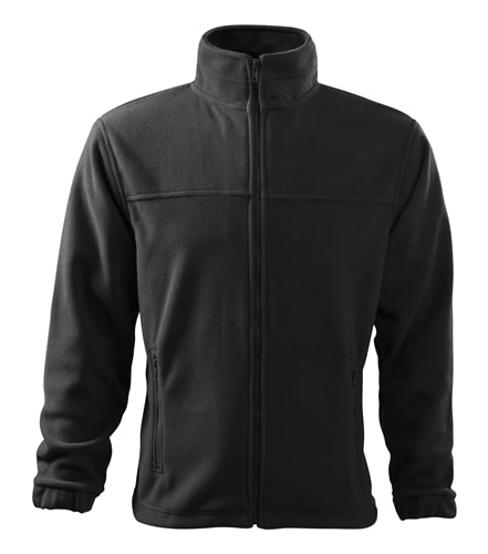 Pánská fleecová mikina Jacket - Ebony gray | XXL