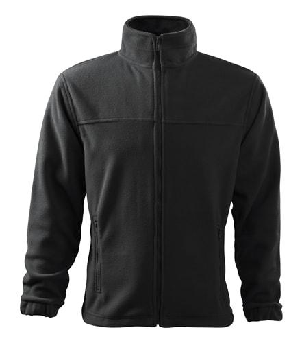 Pánská fleecová mikina Jacket - Ebony gray | XXXXL