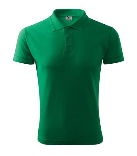 Pánská polokošile Pique Polo - Středně zelená   L