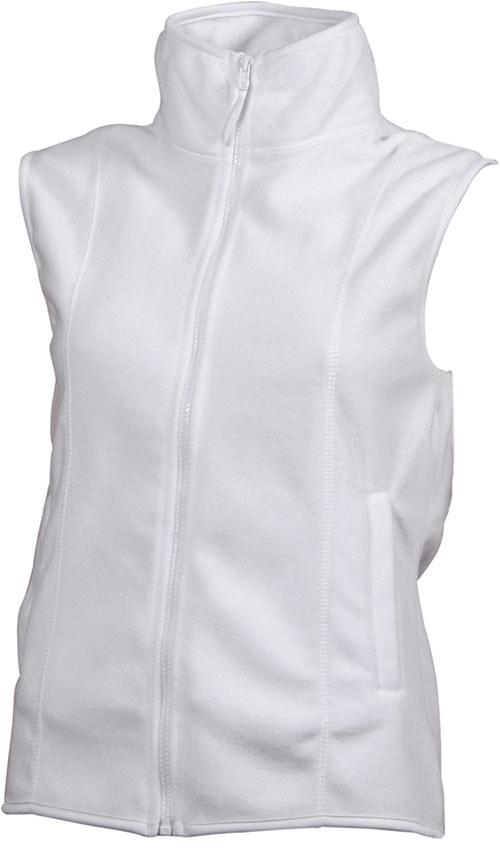 Dámská fleecová vesta JN048 - Bílá | M