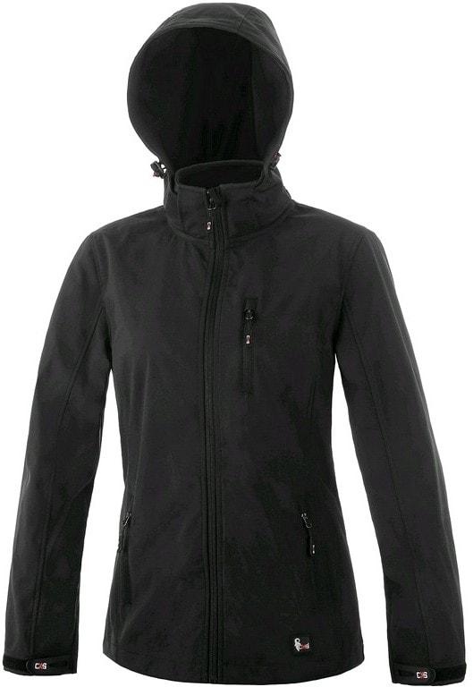 Dámská softshellová bunda DIGBY - Černá / černá | XXXL
