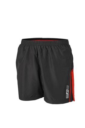 Pánské běžecké šortky JN488 - Černá / tomato | XL