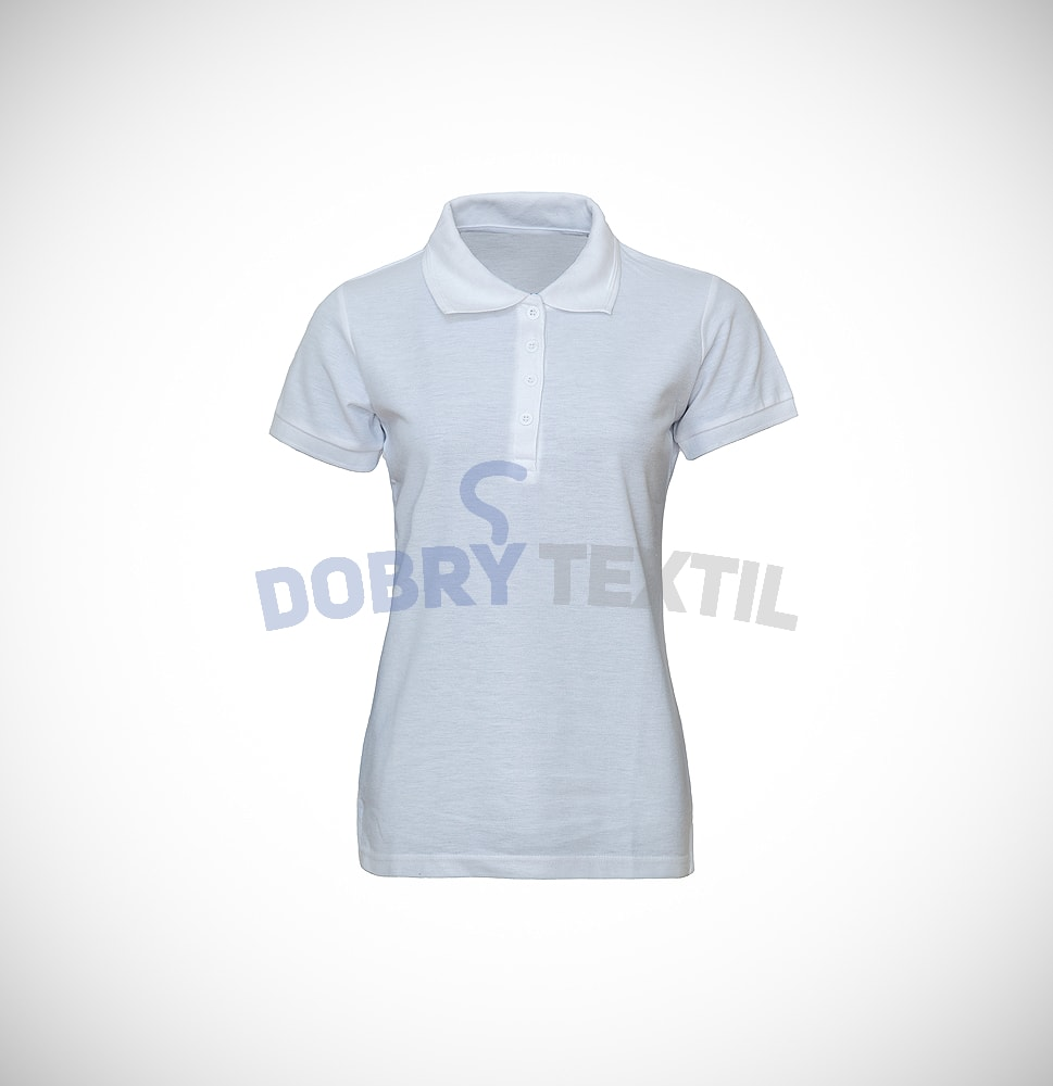 Pique dámská polokošile - Bílá | L