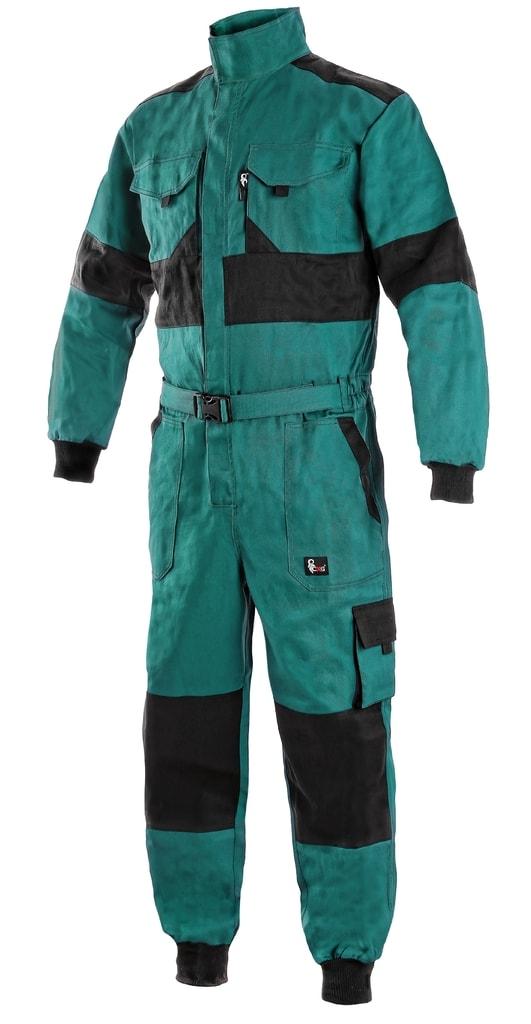 Zimní pracovní kombinéza CXS LUXY ALASKA - Zelená / černá | 62