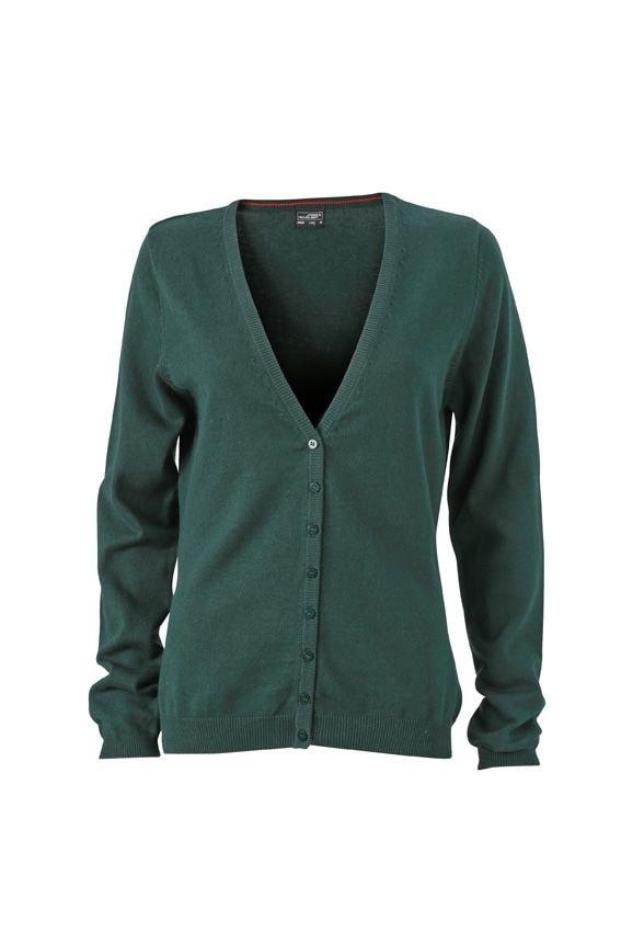 Dámský bavlněný svetr JN660 - Lesní zelená | XXL