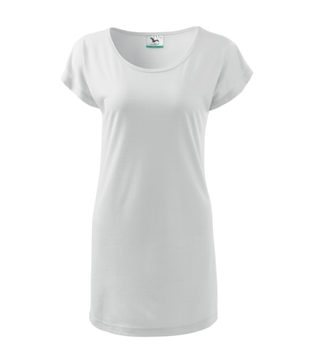 Dámské dlouhé tričko - Bílá | M