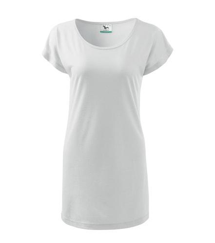 Dámské dlouhé tričko - Bílá | XXL