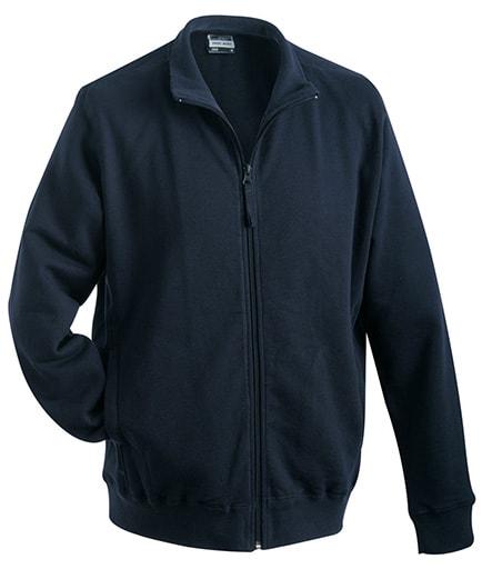Pánská mikina na zip bez kapuce JN058 - Tmavě modrá | XXXL