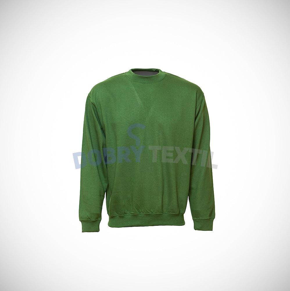 Mikina bez kapuce - Lahvově zelená   XL