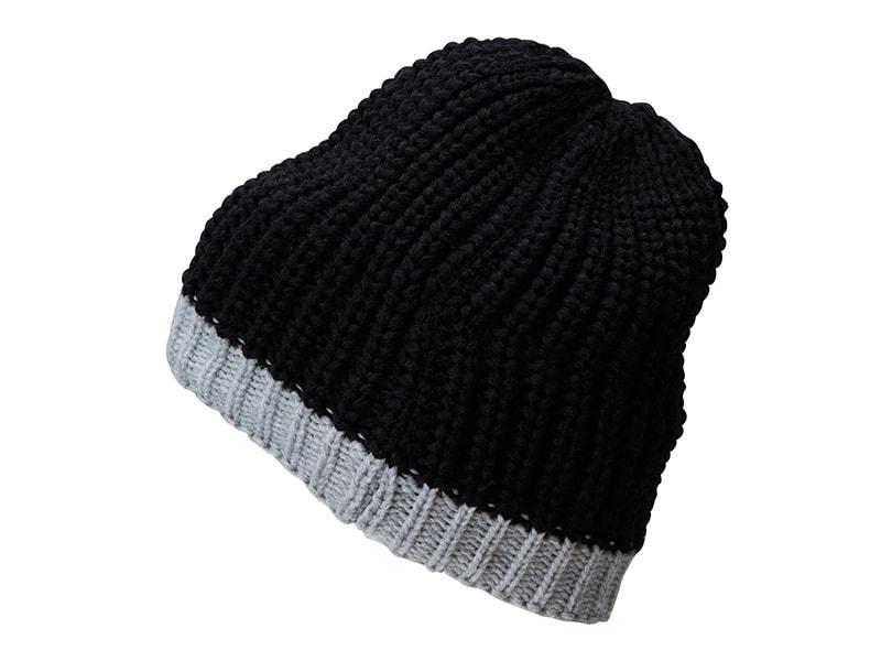 Zimní čepice MB7103 - Černá / stříbrná
