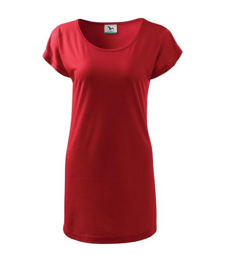 Dámské dlouhé tričko - Červená | XXL