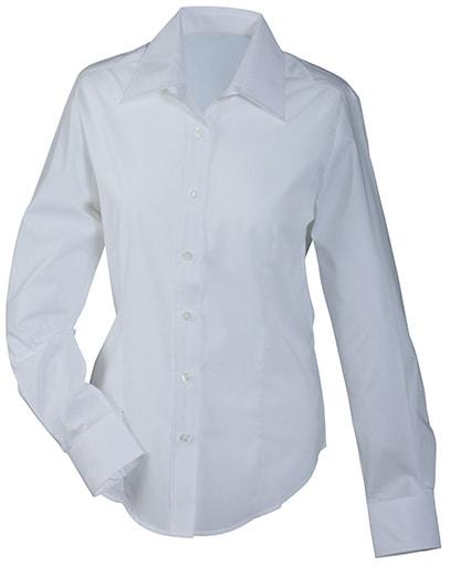 Dámská košile s dlouhým rukávem JN602 - Bílá | XS